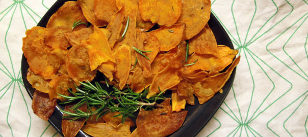 Sweet Potato Rosemary Chips